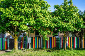 Colourfull fence apartment in Libau