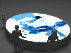 Modell des Lichttischs im Ozeaneum Stralsund (Foto: Deutsches Meeresmuseum)