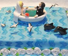 Ungewohnliche Ostsee Hochzeitstorte